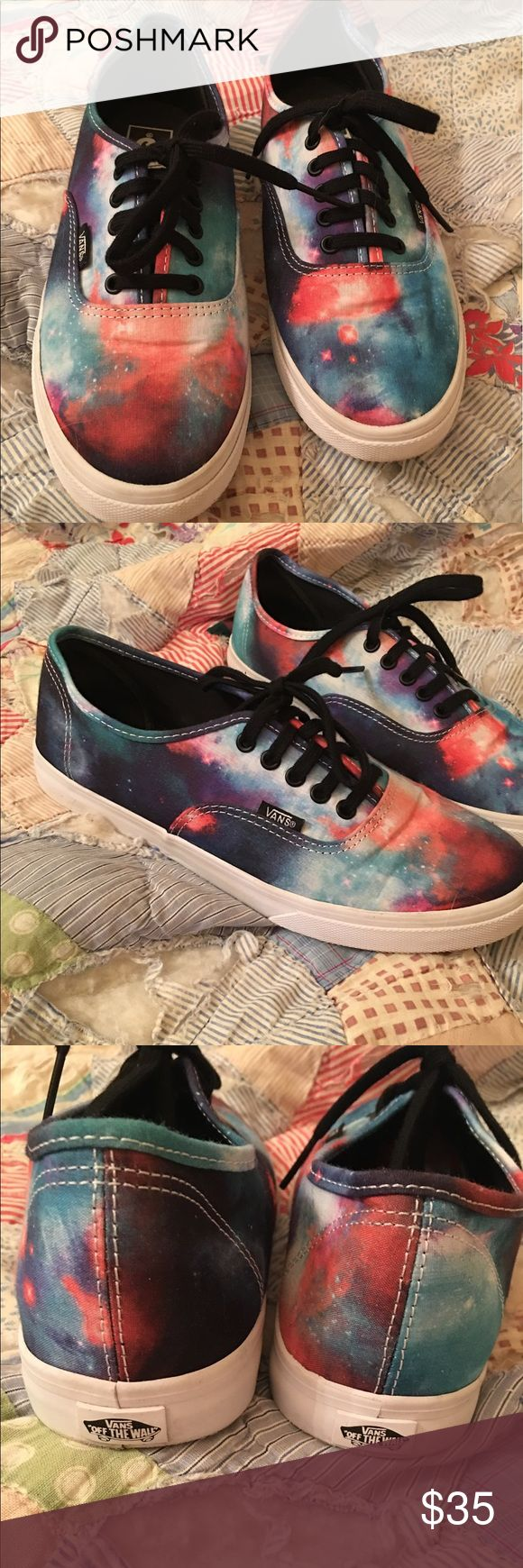 Authentic VANS Lo Pro Galaxy Nebula True White These are amazing!! They are gently worn as shown in picture but no major stains or imperfections. These can be for men or women. The men's size is 6.5 and women's is 8.0. If you have any questions please ask. ⭐️ Vans Shoes Sneakers