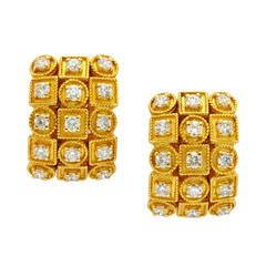 Lalaounis Diamond Gold Ear Clips