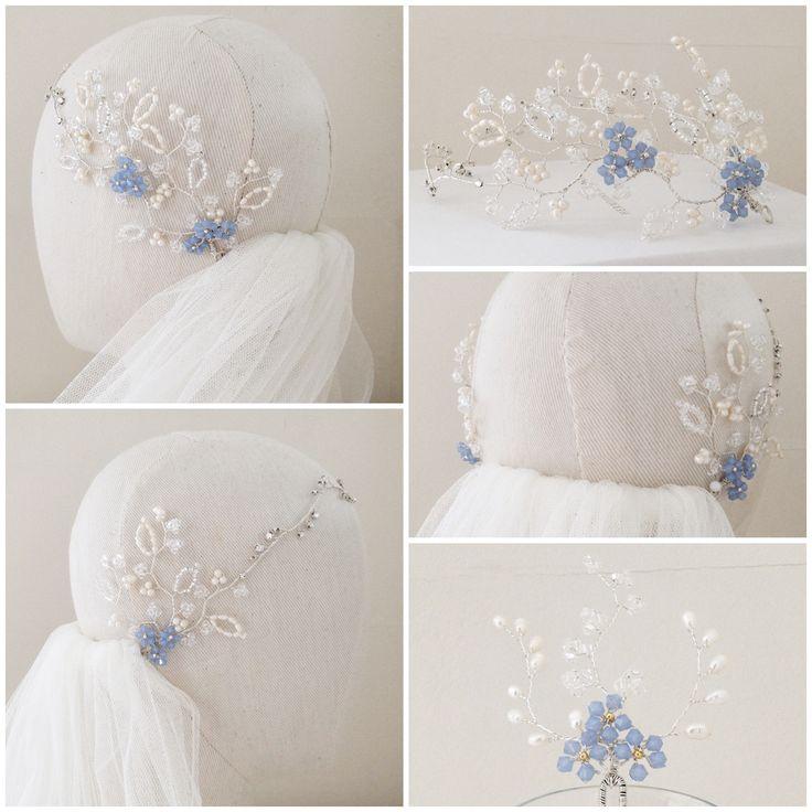 The Forget Me Not Vine Headdress | http://www.hermioneharbutt.com/wedding/hair_accessories/