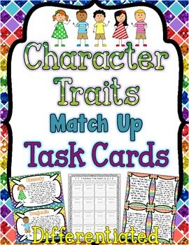 An engaging set of set character traits task cards to help teach, reinforce, and enrich your unit on character traits and inferring character traits! This set can help your students generate inferred character traits, pick out character traits that are explicitly stated, and/or compare and contrast character traits.