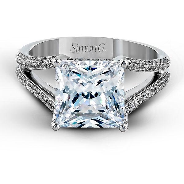 Princess-cut diamond engagement ring by Simon G.