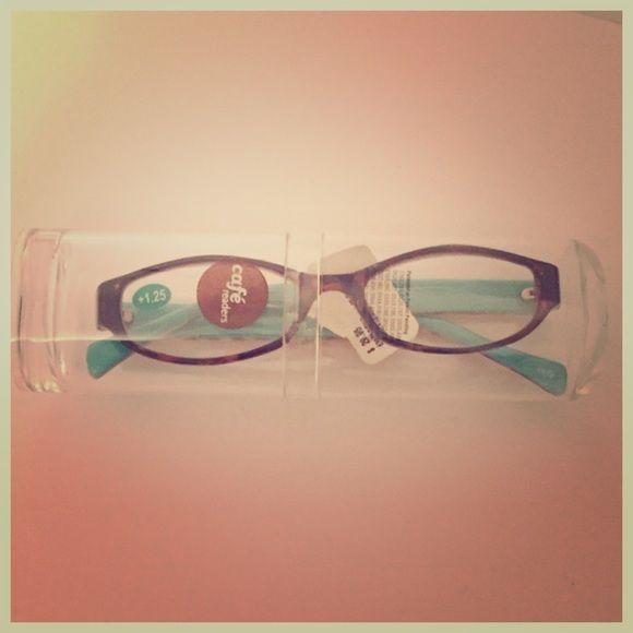 Reader glasses Cafe Reader glasses in tortoise. Power +1.25. Brand new. Cafe Readers Accessories Glasses