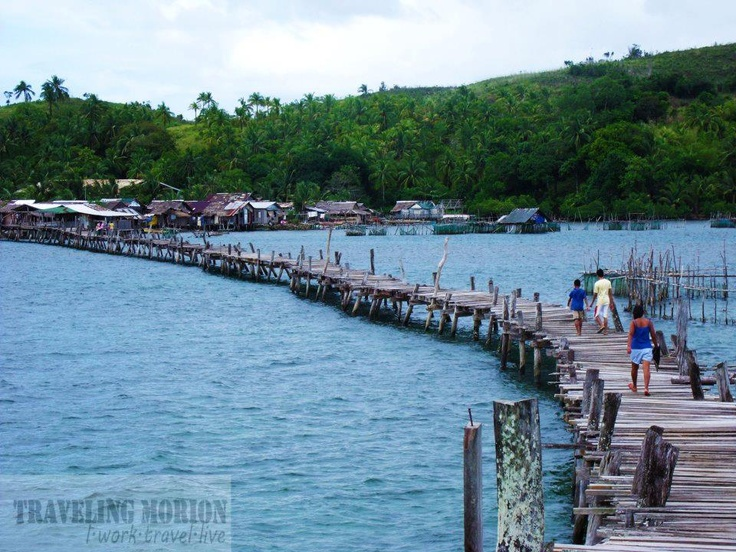 bridge connects two islands in Surigao City