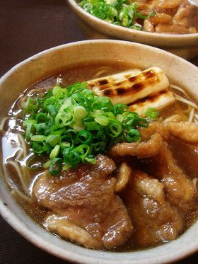 japanese duck noodles (you can substitute soba with udon)