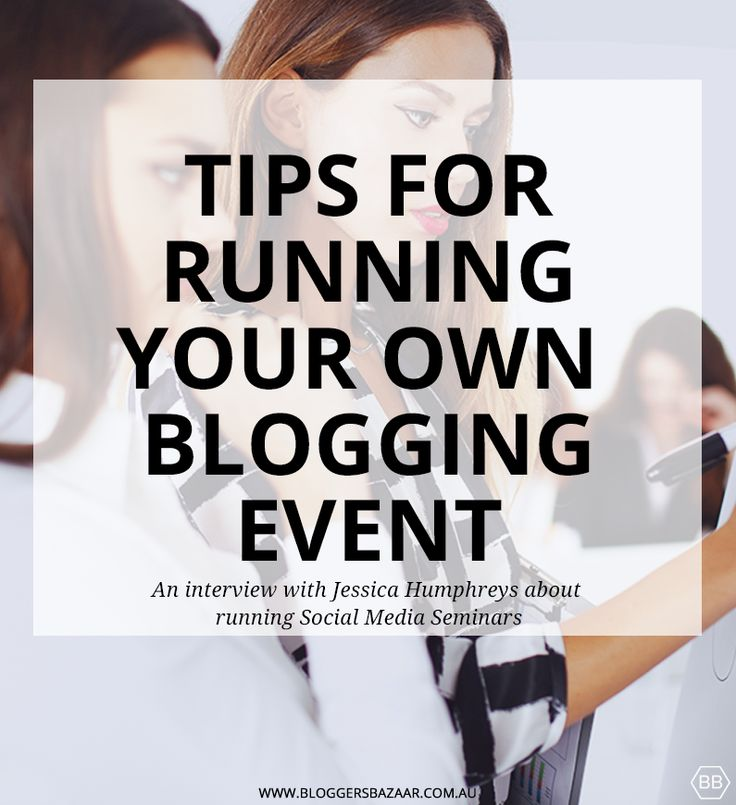tips-for-running-a-blogging-event