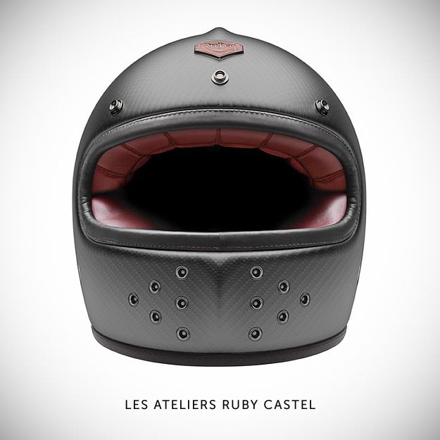 Les Ateliers Ruby Castel The €930 Castel is the French company's first foray into the world of full-face protection. Ruby motorcycle helmet