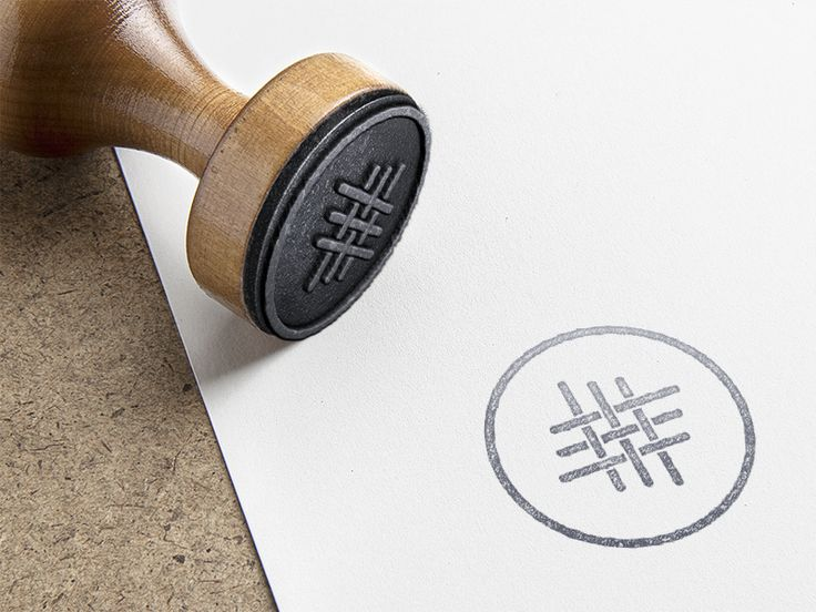 Textile Logo - Rubber Stamp