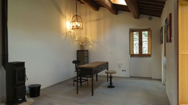 An art studio in newly built outbuilding, a former stable.