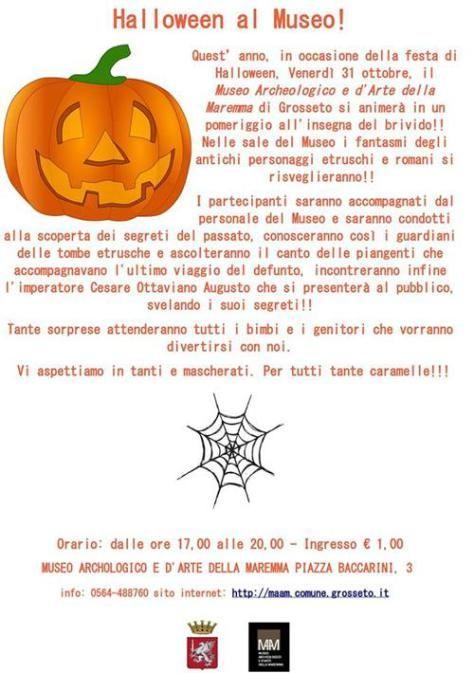 #Halloween al #Museo a #Grosseto, un evento da non perdere per grandi e piccini #Maremma 31/10/2014 #Tuscany