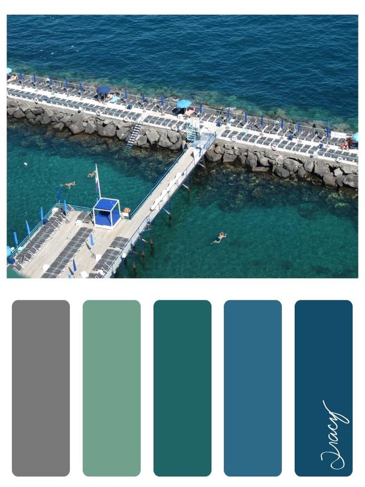 amalfi blue colour palette