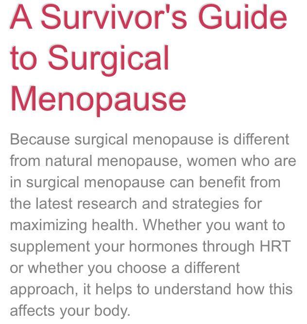 Natural Remedies For Hormone Replacement After Hysterectomy