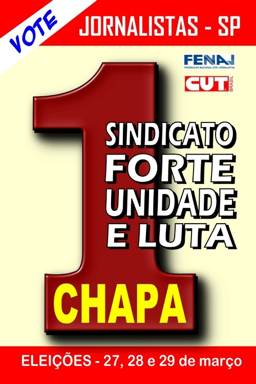 Chapa 1 vence as eleições no Sindicato dos Jornalistas de São Paulo