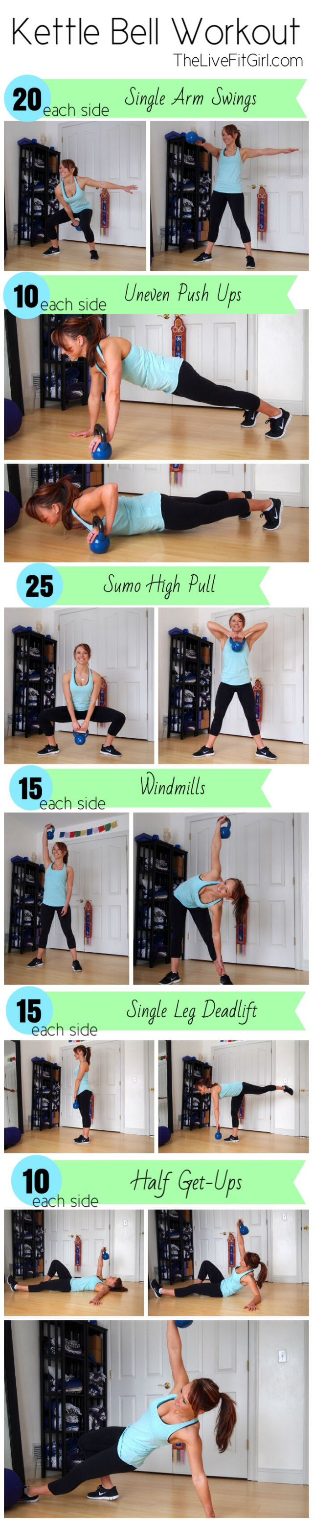Kettlebell Workout - burn tons of calories with this full body workout!