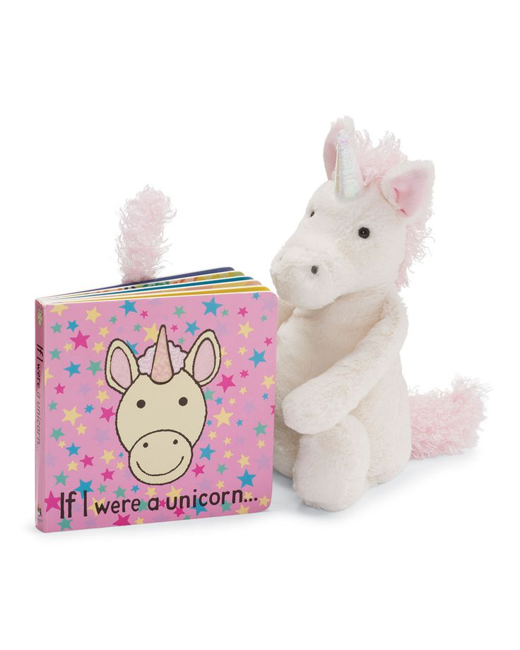 Unicorn Book and Plush Stuffed Animal - Jellycat