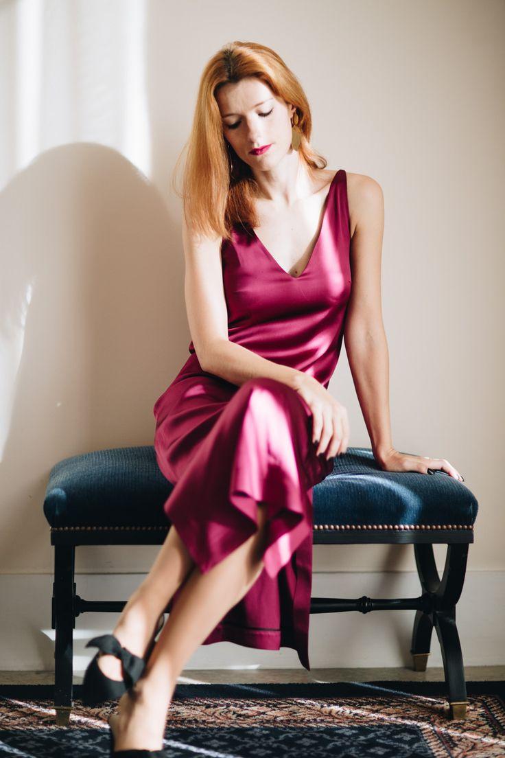 Silk Slip Dress; how to style a slip dress - Suvelle Cuisine