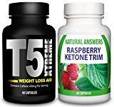 NEW ULTIMATE COMBO - T5 Fat Burner + Raspberry Ketones By Natural Answers | Best Weight Loss Pills | T5 Xtreme Ketone Trim | Extreme Max Strength Thermogenic Fat Burner and Raspberry Ketone Capsules | Strong Slimming Diet Supplements | Supress Appetite, Boost Metabolism | 1 Month Supply | Natural Answers - https://www.trolleytrends.com/?p=534317