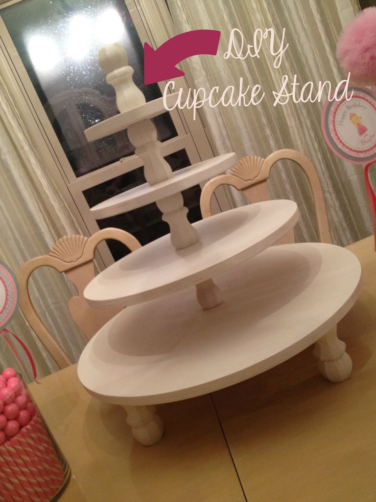 The 59 best images about diy cake stands on pinterest for Cupcake stand plans