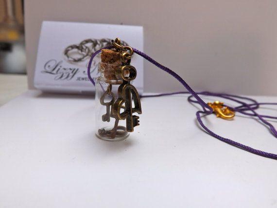 key charm bottle necklace by LizzyNicholls on Etsy, £6.00