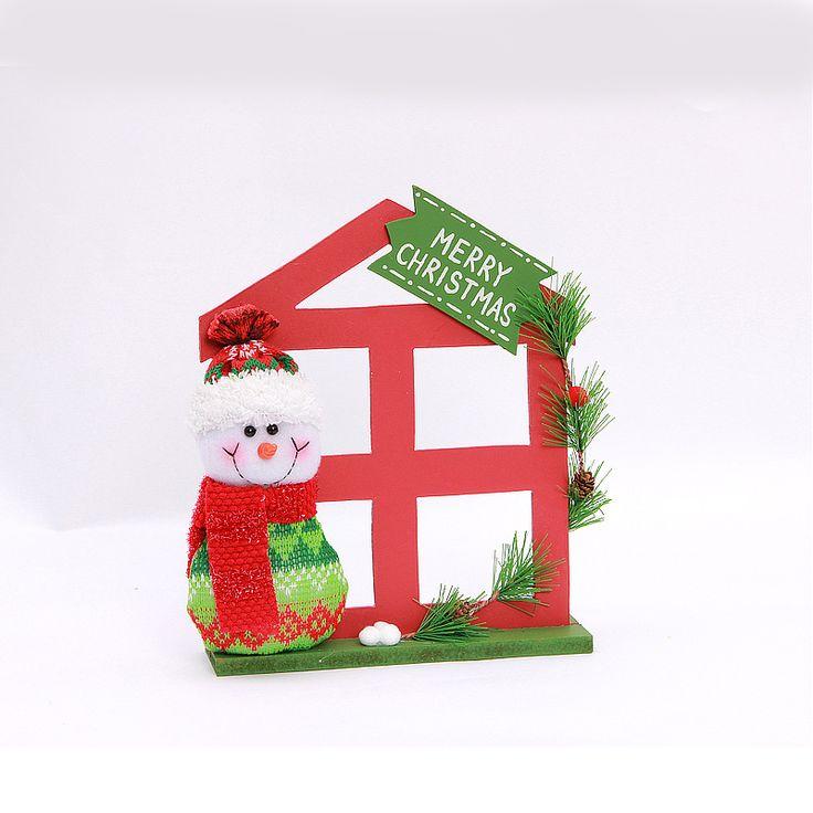 Творческий Рождественский Подарок Украшения Санта Клаус Санта Клауса Снеговик Олень Кукла Новогоднее Украшение Xmas Wodden Окно купить на AliExpress