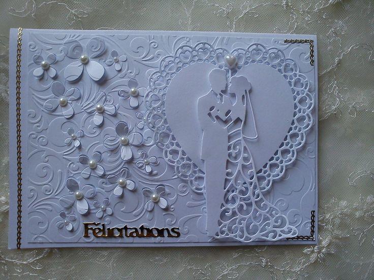Bonjour à toutes, Aujourd'hui nous vous présentons 2 cartes de félicitations pour un mariage réalisées par Athéna. Excusez-nous pour la mauvaise qualité des photos. La première : la seconde : Merci de votre visite et de vos commentaires dont nous sommes...