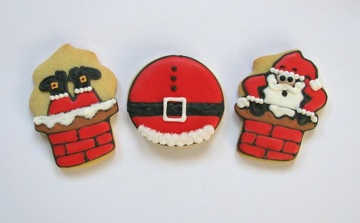 santa chimney cookies