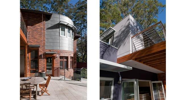 Zinc + Matrix Cladding - Turramurra House -  Bijl Architecture