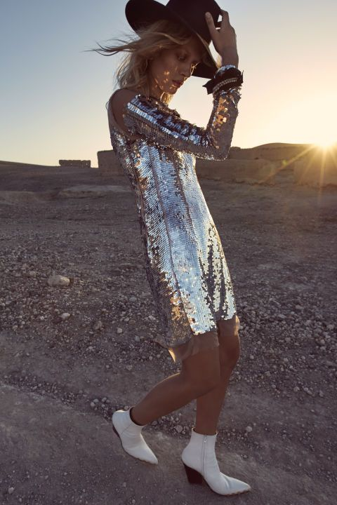 The New Season fashion editorial combines mod metallics with the Moroccan desert. See the entire spring fashion shoot: