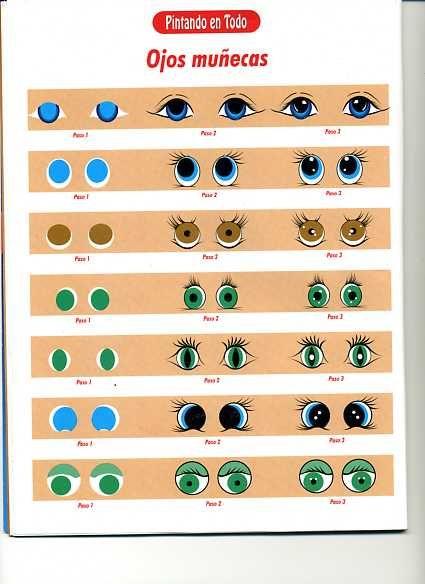 Dibujos y Plantillas para imprimir: Ojos para munecos | Moldes ...