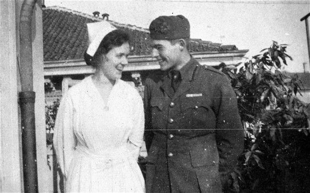 Ernest Hemingway and Agnes von Kurowsky during the First World War