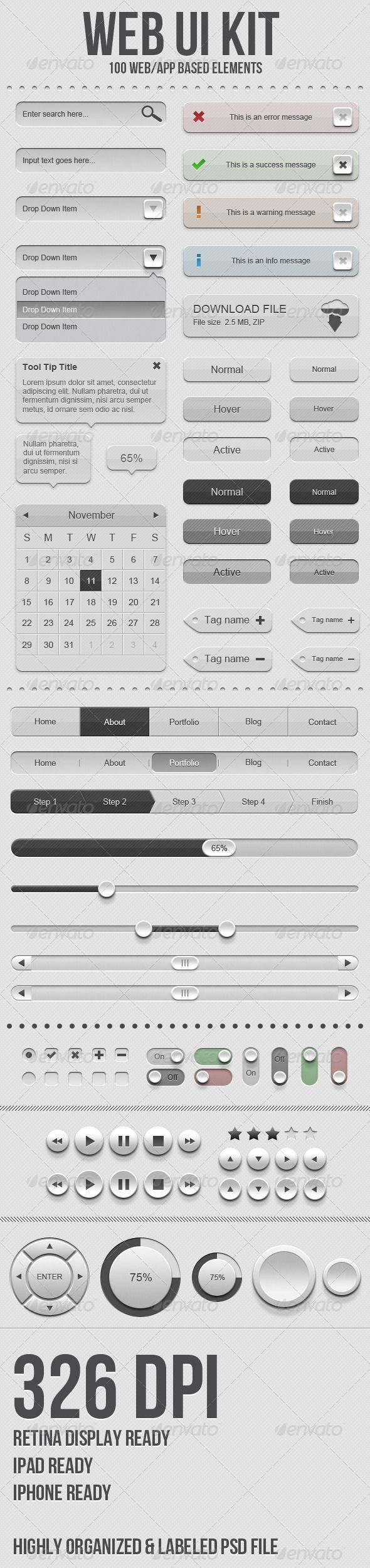 Web Elements - Web UI Kit | GraphicRiver