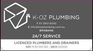K-Oz plumbing Carina - 07 3901 6042