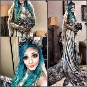 This scarily convincing Corpse Bride. | 25 Chilling Tim Burton Costumes You Should Try This Halloween This Costume Is Amazing