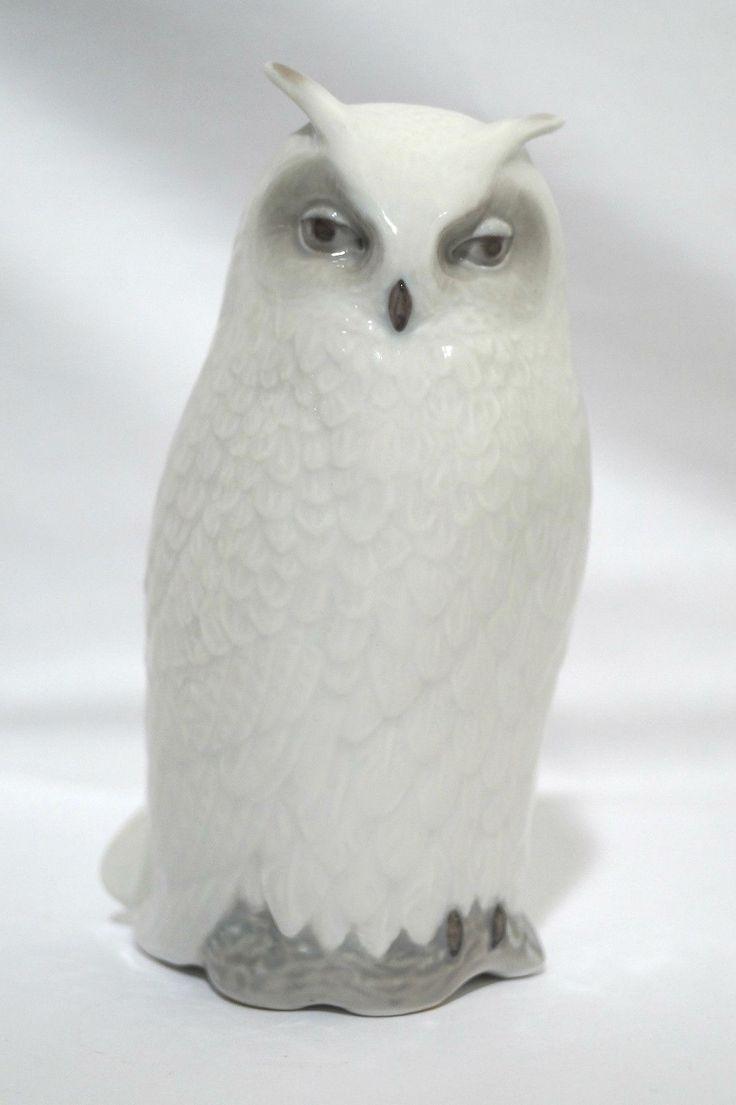 Stunning Royal Copenhagen Large Owl Figurine 155 Gloss ...