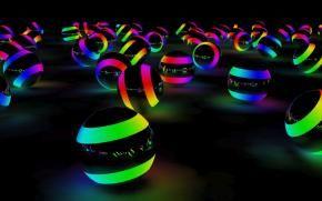 Радужные световые шары