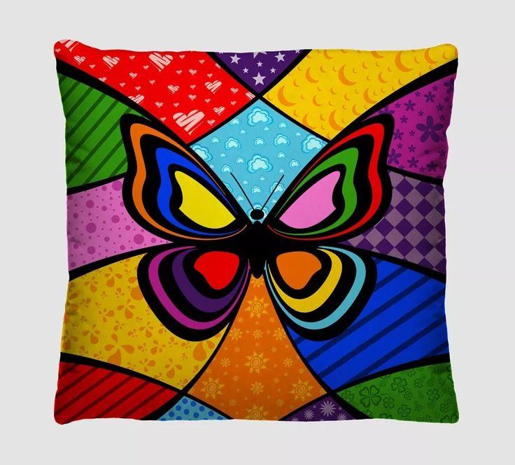 Capas Para Almofadas Decorativas - Romero Brito - Kit Com 6 - R$ 119,90 em Mercado Livre