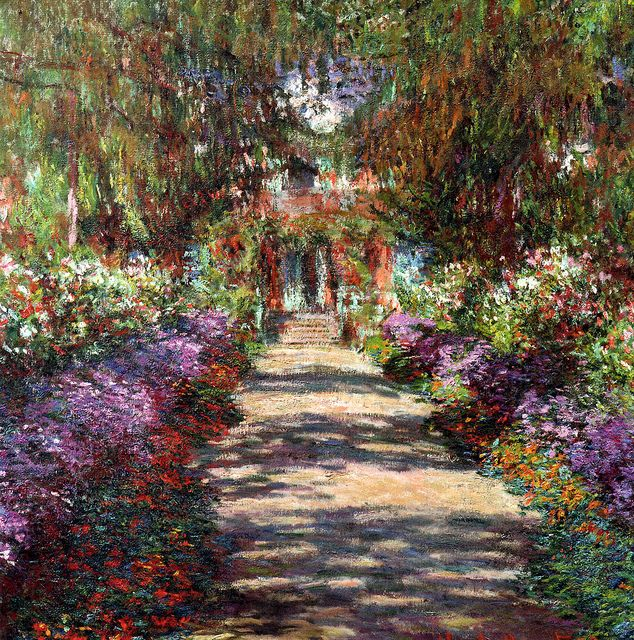 Claude Monet - Garden in Giverny, 1902
