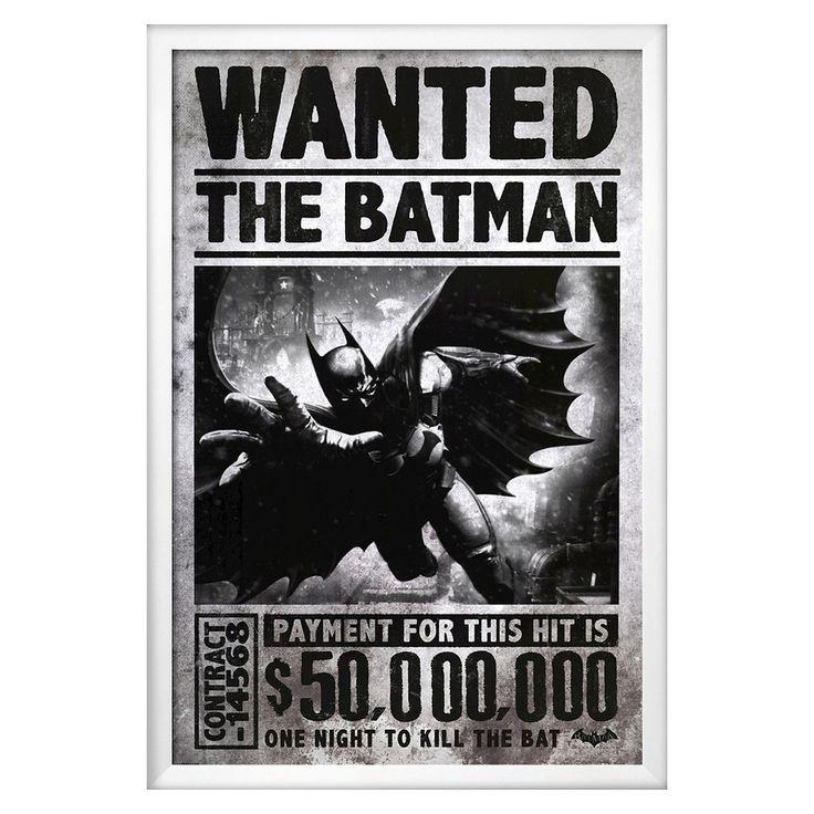 batman arkham origins wanted framed poster poster batman arkham and batman arkham origins. Black Bedroom Furniture Sets. Home Design Ideas
