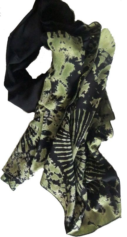 In the Jungle. Black & green tie dyed scarf for A$19.00 #onselz