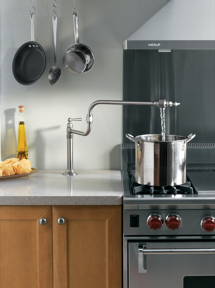 Pot Fillers For The Aspiring Chef In All Of Us Kitchen