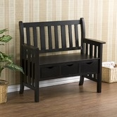 Found it at Wayfair - Ballston Three Drawer Country Bench in Black: Wood Entryway, Entryway Benches, Country Benches, Back Porches, Drawers, Storage Wood, Stuart Storage,  Day Beds, Storage Benches
