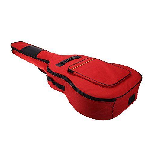 Sodialr41 Guitar Backpack Shoulder Straps Pockets 5mm Cotton Padded
