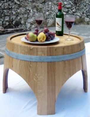 WINEWOOD.CH - Make choices that involve 'upcycled' materials. The second life of these barriques as a utilitarian design object keeps them out of the landfills!