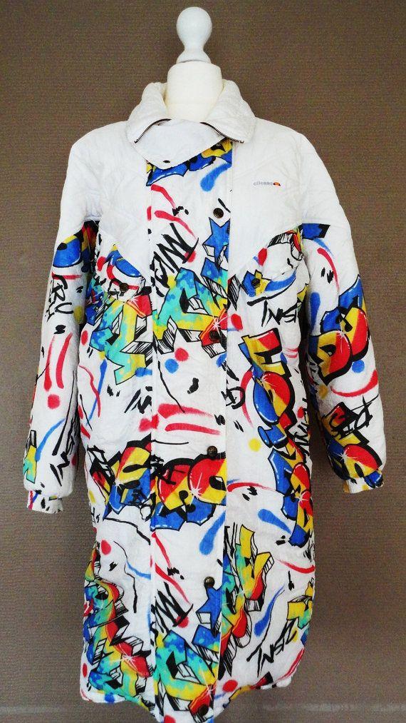 Manteau de Ski Vintage Graff Ellesse1990 par BettyseVintage sur Etsy