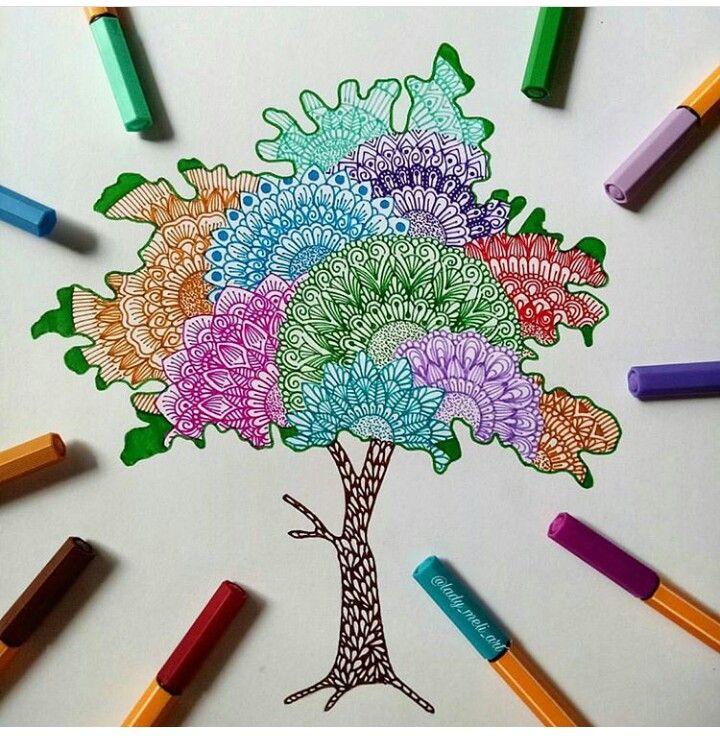 Pin Di Vivian Nunez Su Zentangle Arte Pennarelli Disegno A Penna Idee Per Disegnare