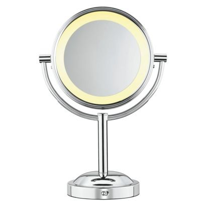 Doesnt have to be this exact mirror. Just a lighted make up mirror with one normal mirror side and One magnified side
