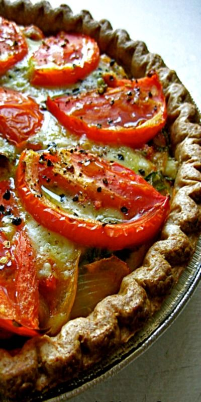 Julia Child's Provencal Tomato Quiche ❊