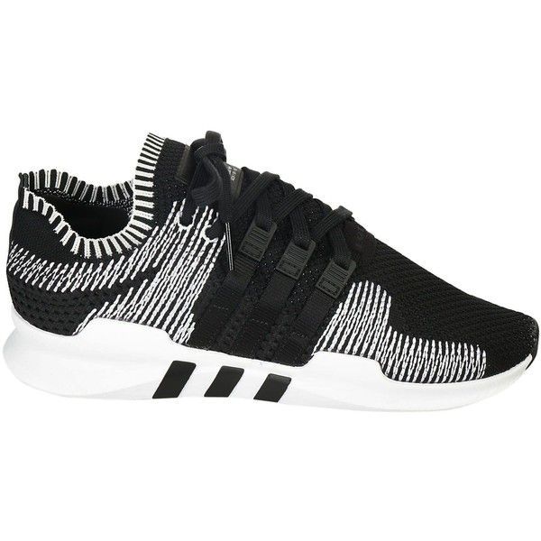 Eqt Support Sneakers ($130) ? liked on Polyvore featuring men\u0027s fashion,  men\u0027s shoes, men\u0027s sneakers, core black, mens round toe shoes, mens black  lace up ...