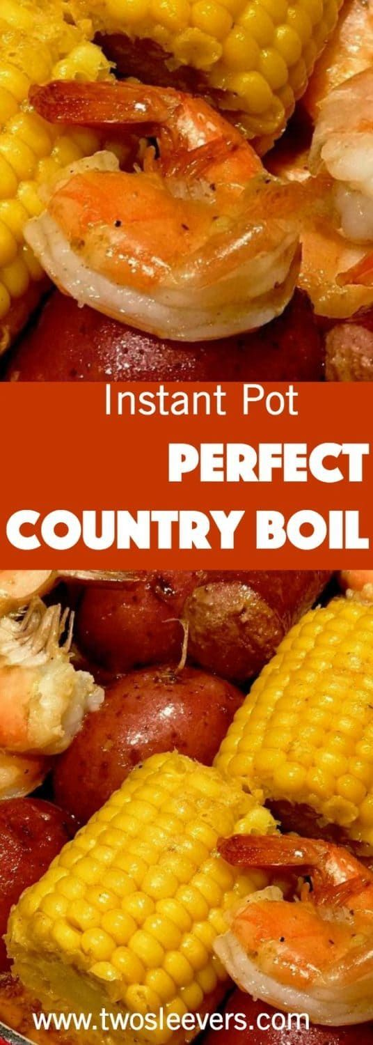 This is the best way I've found to make a Cajun Shrimp and Sausage boil in the Instant Pot. We love going out to places like the Boiling Crab that do crab, sausage, shrimp, corn and potatoes in a bag. via @twosleevers