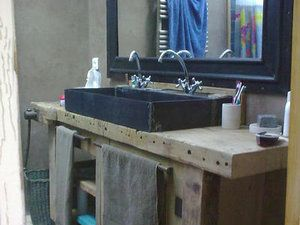 17 best images about salle de bain on pinterest search - Meuble salle de bain recup ...