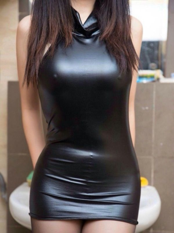 Sexy girls in small tight leather